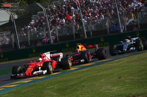 Rot schlägt Silber: Vettel in Melbourne vor Hamilton
