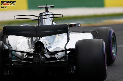 Mercedes setzte beim Saisonauftakt in Australien auf eine stärkere Kühlung, indem man das Heck um den Auspuff herum öffnete.