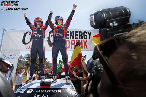 Thierry Neuville ließ am Schlusstag auf Korsika nichts mehr anbrennen und feierte seinen ersten Saisonsieg.