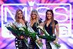 Die Entscheidung ist gefallen: Miss Tuning 2017 ist Vanessa Schmitt aus Bruchsal (Mitte), links die Zweitplatzierte Viktoria Fischer aus Schwabm?nchen und die Drittplatzierte Kerstin Sturm aus Leiblfing, rechts.