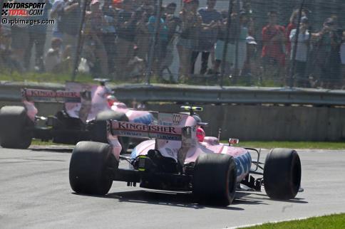 Bei Force India ging es in Montreal nicht nur auf der Strecke heiß her. Jetzt durch das Stallduell und andere Rennhighlights klicken!