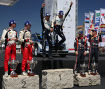 Ott Tanak (M-Sport), Jari-Matti Latvala (Toyota), Thierry Neuville (Hyundai)