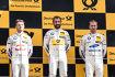 Timo Glock (RMG-BMW), Marco Wittmann (RMG-BMW) und Maxime Martin (RBM-BMW)