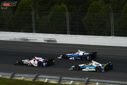 Edward Jones (Coyne), Max Chilton (Ganassi) und Gabby Chaves (Harding)
