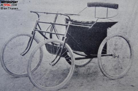 Max Hertels Doppel-Zweirad