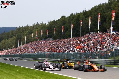 An Fernando Alonsos Vorstellung in Spa scheiden sich die Geister. Jetzt durch die 15 besten Highlight-Fotos des Rennens klicken!