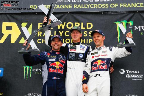 Sebastien Loeb, Johan Kristoffersson und Mattias Ekström