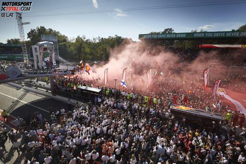 Publikumserfolg in Italien: Die Fans in Monza kamen in Scharen zur Formel 1