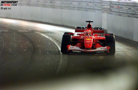 Mit dem F2001 hat Michael Schumacher seinen letzten Monaco-Sieg gefeiert. Klicken Sie sich jetzt durch seine Ferrari-Jahre 1996 bis 2006!