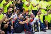 Daniel Ricciardo (Red Bull), Max Verstappen (Red Bull) und Christian Horner