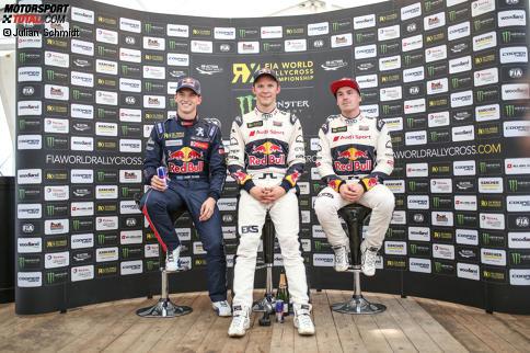 Timmy Hansen, Mattias Ekström und Toomas Heikkinen