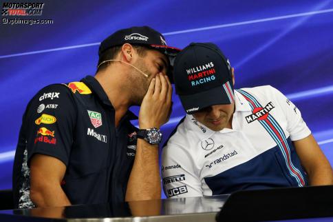 Daniel Ricciardo (Red Bull) und Felipe Massa (Williams)