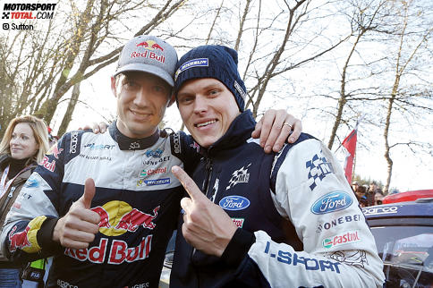 Sebastien Ogier (M-Sport) und Ott Tanak (M-Sport)