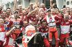 Andrea Dovizioso (Ducati) und Jorge Lorenzo (Ducati)
