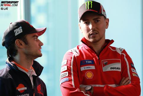 Daniel Pedrosa (Honda) und Jorge Lorenzo (Ducati)