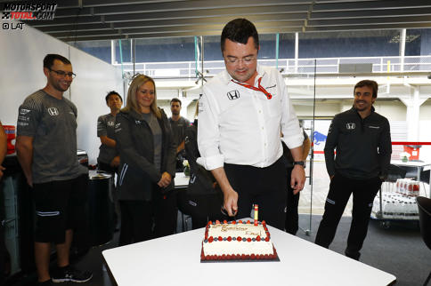 Eric Boullier und Fernando Alonso (McLaren)