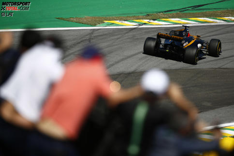 Ohne Saft keine Kraft: Hülkenberg blieb mit zurückgedrehtem Motor zahnlos. Jetzt durch die Highlights des Grand Prix von Brasilien klicken!