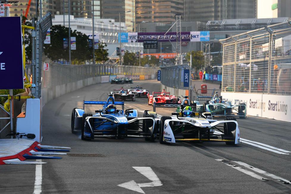 Sebastien Buemi (Renault e.dams) und Lucas di Grassi (Audi)