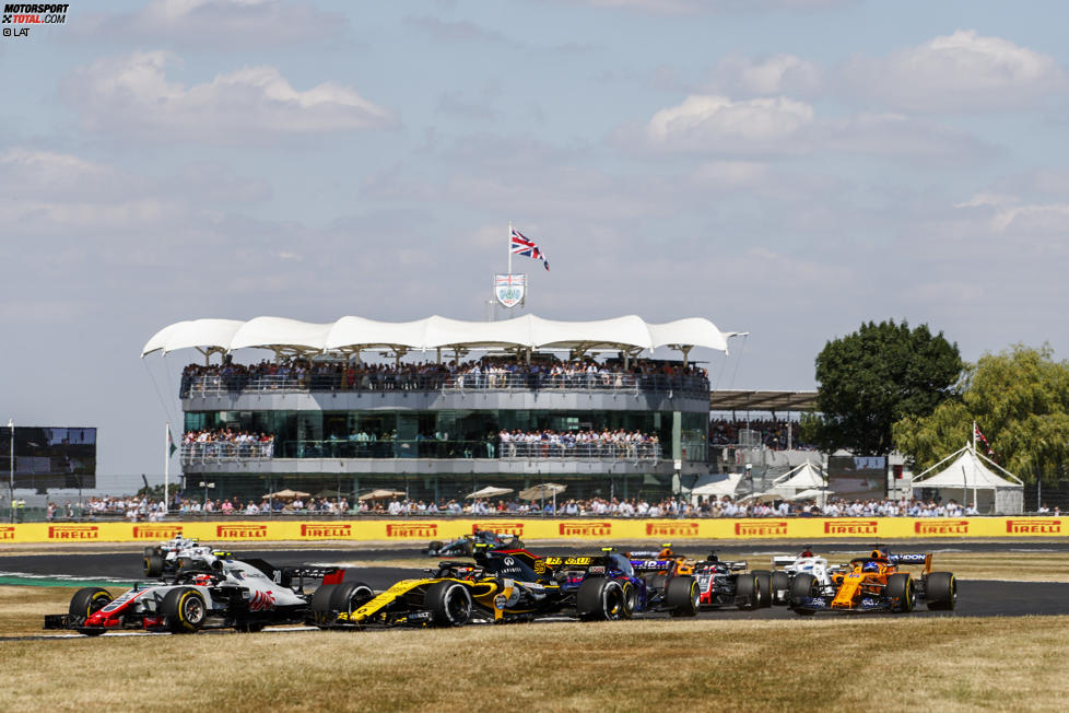 Kevin Magnussen (Haas), Carlos Sainz (Renault) und Pierre Gasly (Toro Rosso)