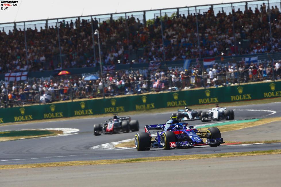 Pierre Gasly (Toro Rosso), Romain Grosjean (Haas) und Marcus Ericsson (Sauber)