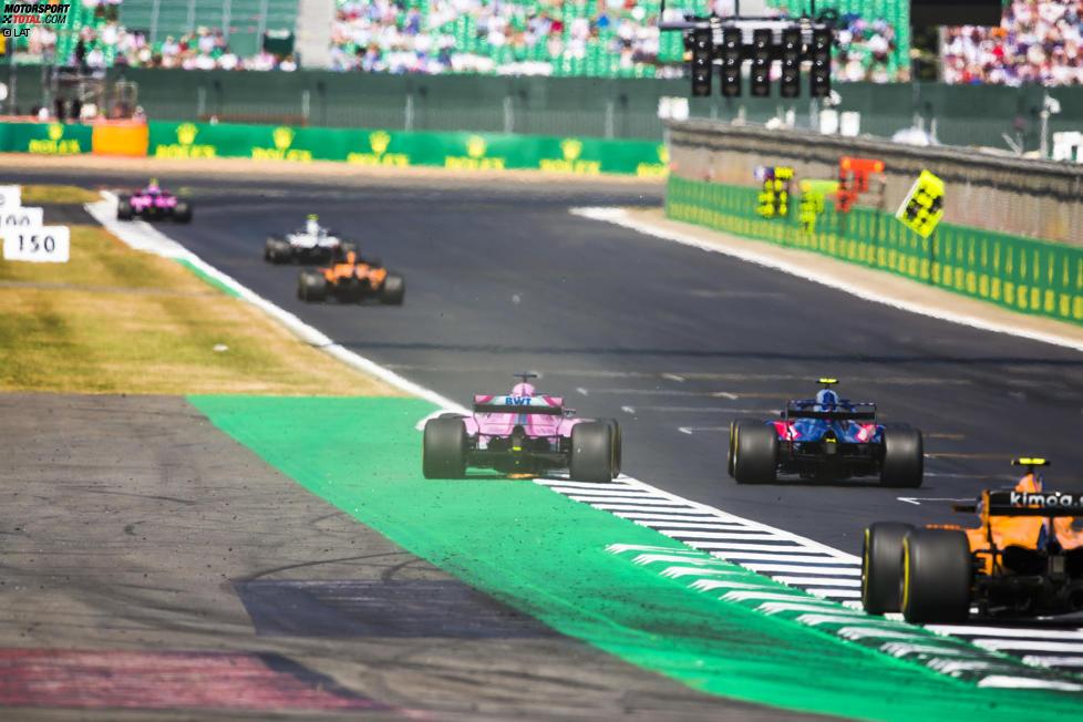 Sergio Perez (Force India), Pierre Gasly (Toro Rosso) und Stoffel Vandoorne (McLaren)