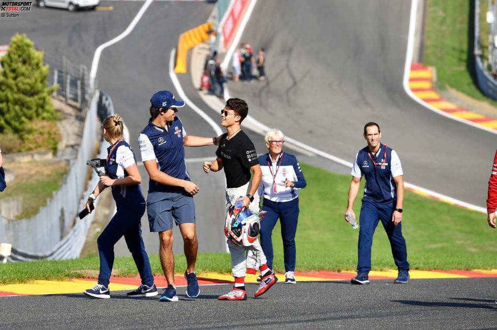 Lance Stroll (Williams) und Formel-2-Pilot Nyck de Vries