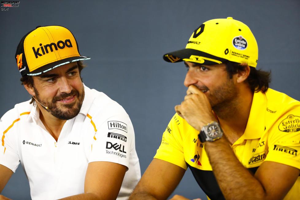 Fernando Alonso (McLaren) und Carlos Sainz (Renault)