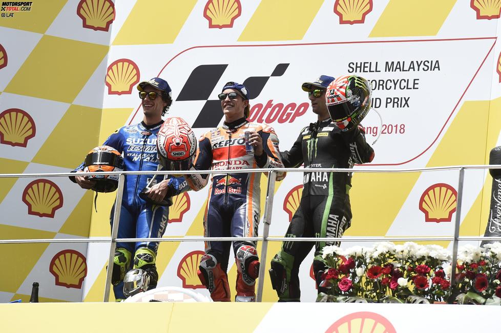 Marc Marquez (Honda), Alex Rins (Suzuki) und Johann Zarco (Tech 3)