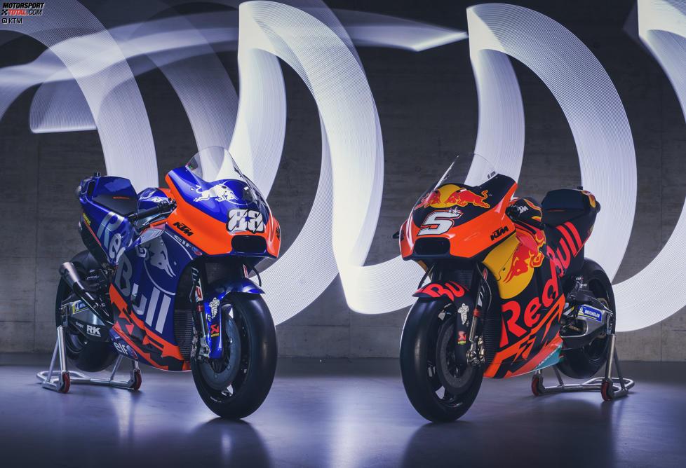 Die KTM-Bikes des Tech-3-Teams und der Werksmannschaft