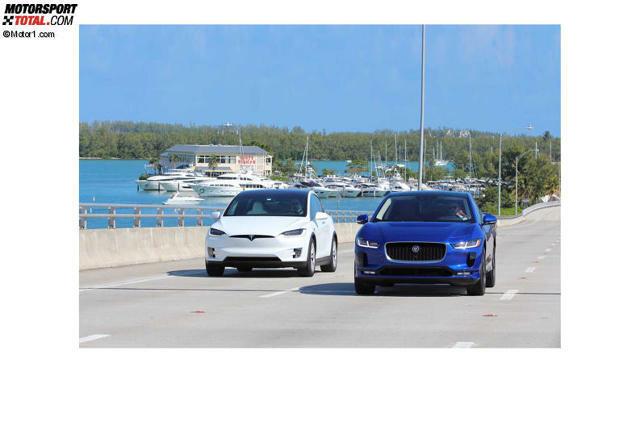 f9815cebe9 Elektroauto-Vergleichstest: Jaguar I-Pace gegen Tesla Model X