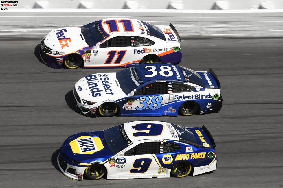 3-Wide-Racing mit Chevrolet, Ford und Toyota in Daytona