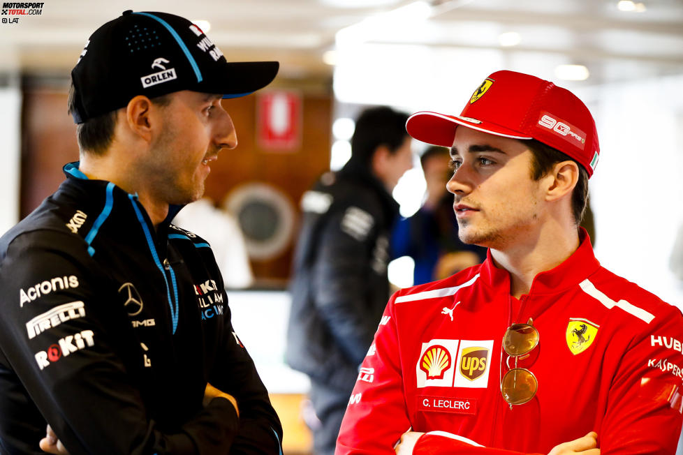 Robert Kubica (Williams) und Charles Leclerc (Ferrari)