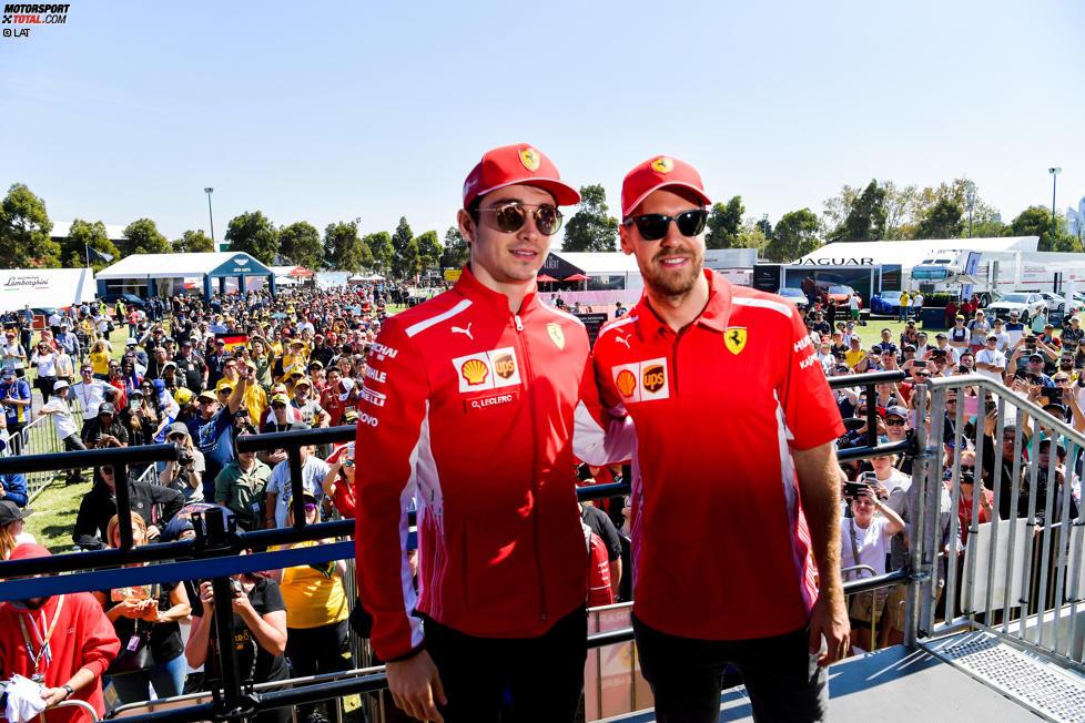 Sebastian Vettel (Ferrari) und Charles Leclerc (Ferrari)