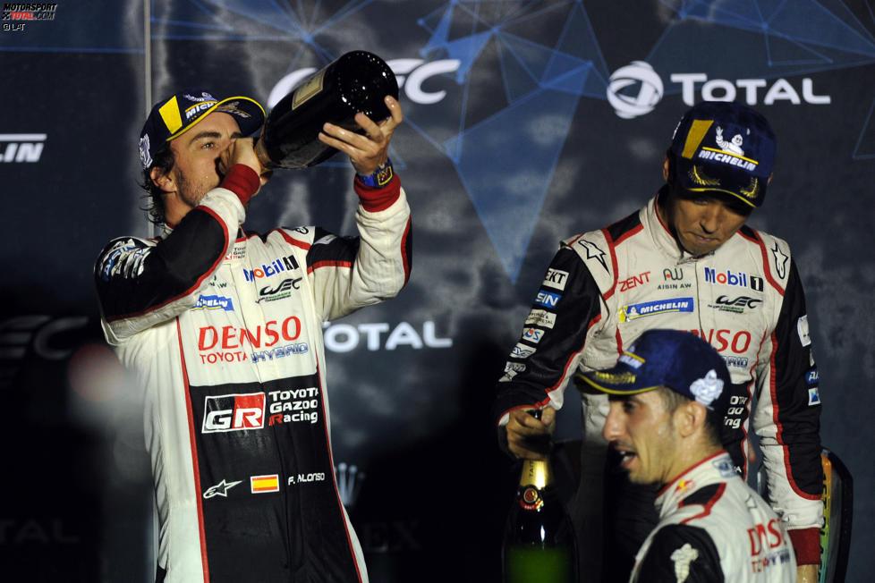 Fernando Alonso, Sebastien Buemi und Kazuk Nakajima