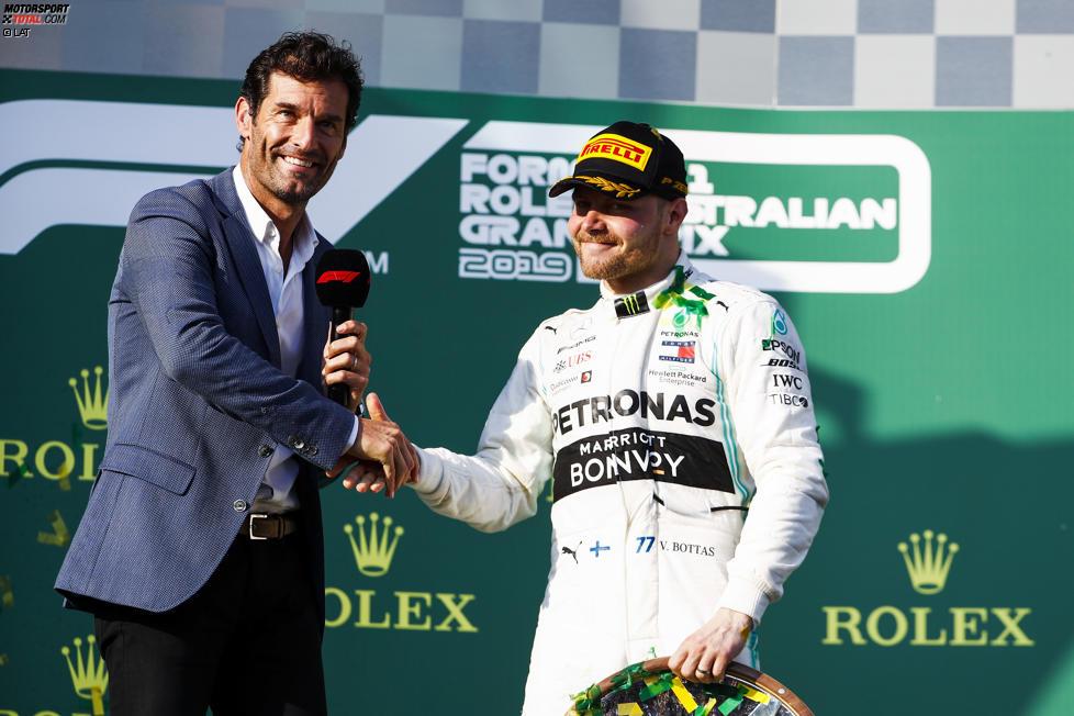 Mark Webber und Valtteri Bottas (Mercedes)