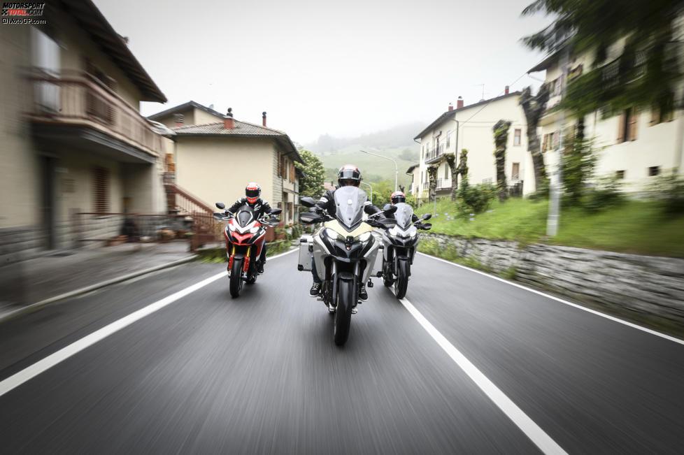 Andrea Dovizioso, Michele Pirro und Danilo Petrucci
