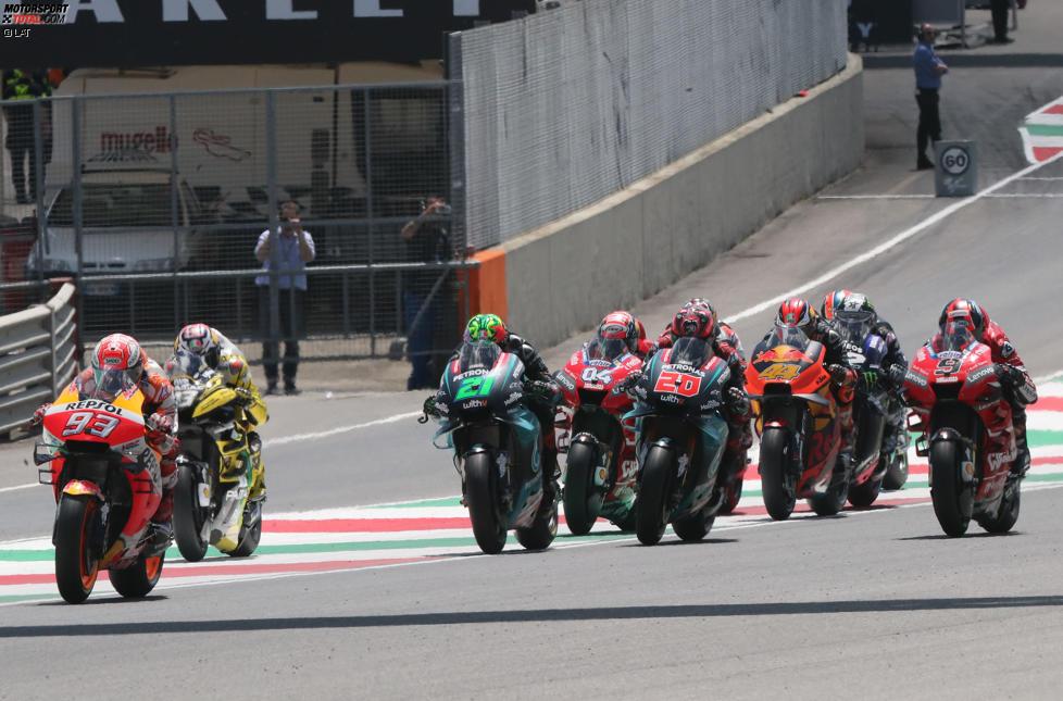 MotoGP-Start in Mugello