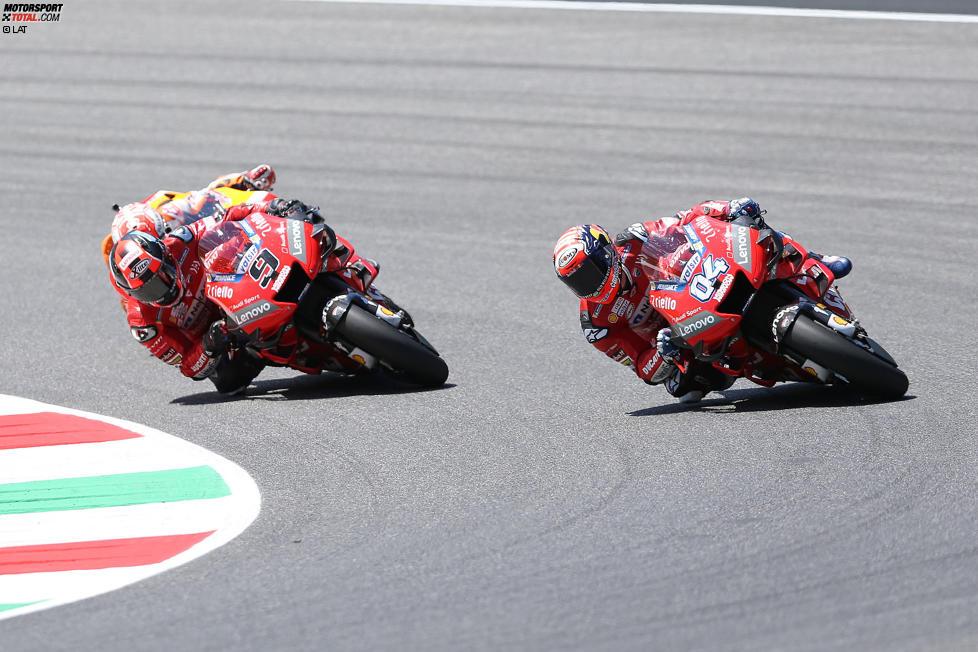 Danilo Petrucci (Ducati), Andrea Dovizioso (Ducati) und Marc Marquez (Honda)