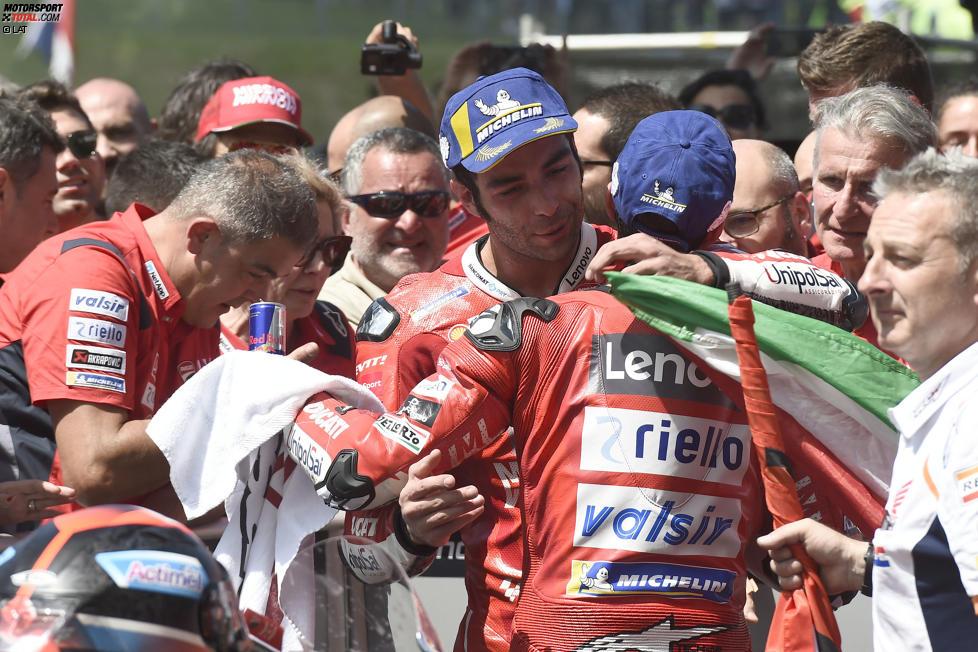 Danilo Petrucci (Ducati) und Andrea Dovizioso (Ducati)