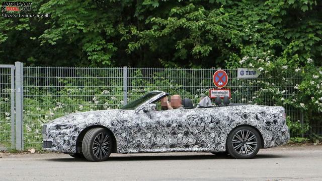 BMW 4er Cabriolet (2020): Erlkönig komplett offen erwischt