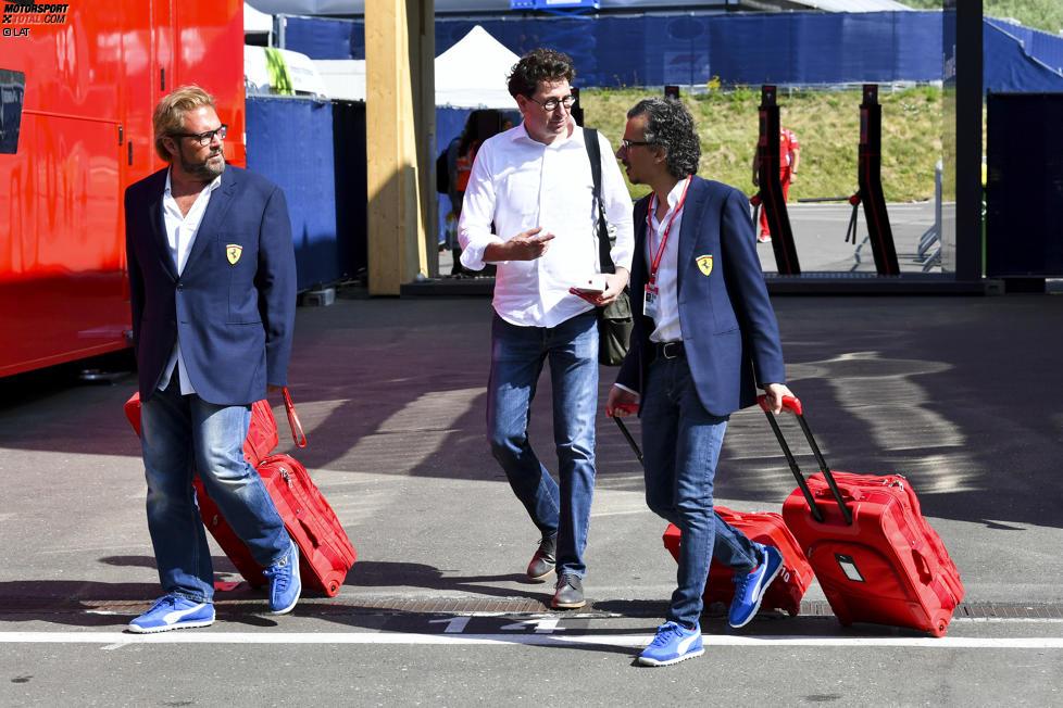 Mattia Binotto und Laurent Mekies