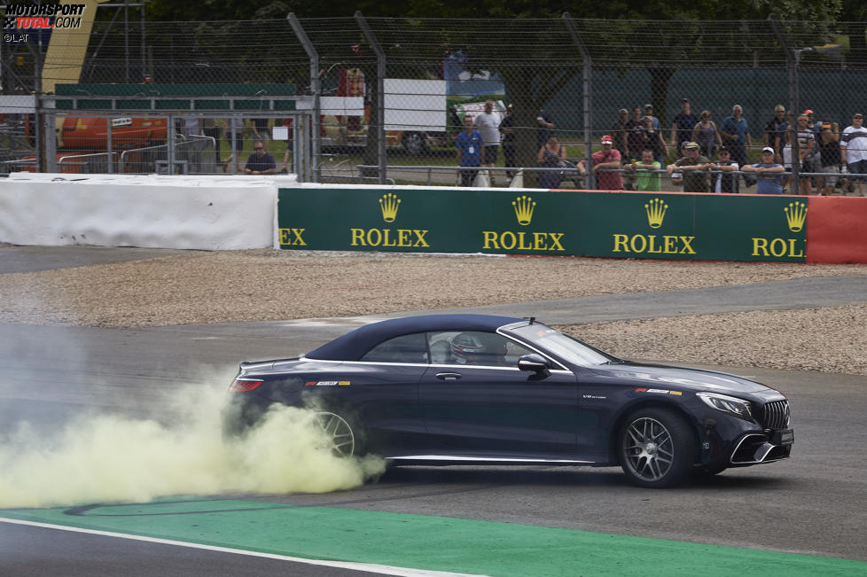Lewis Hamilton (Mercedes) und Frank Williams