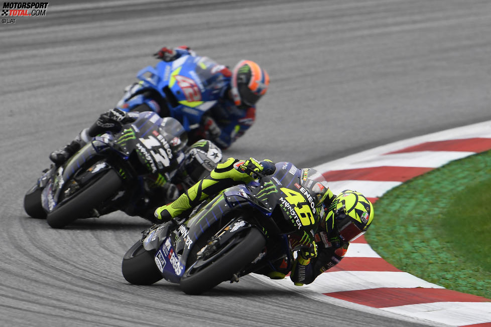 Valentino Rossi vor Maverick Vinales