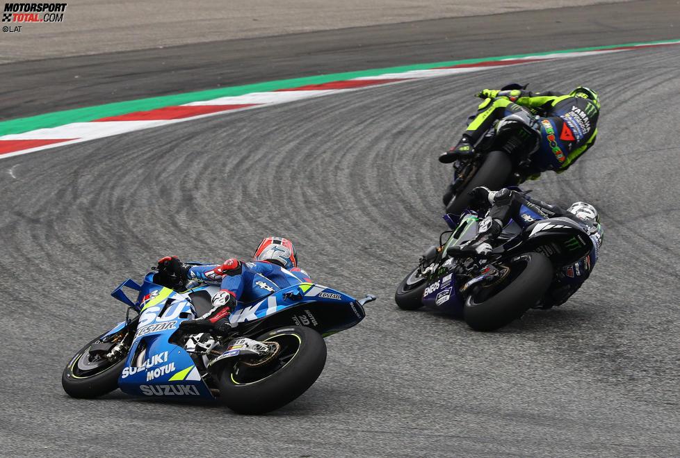 Maverick Vinales (Yamaha) und Alex Rins (Suzuki)