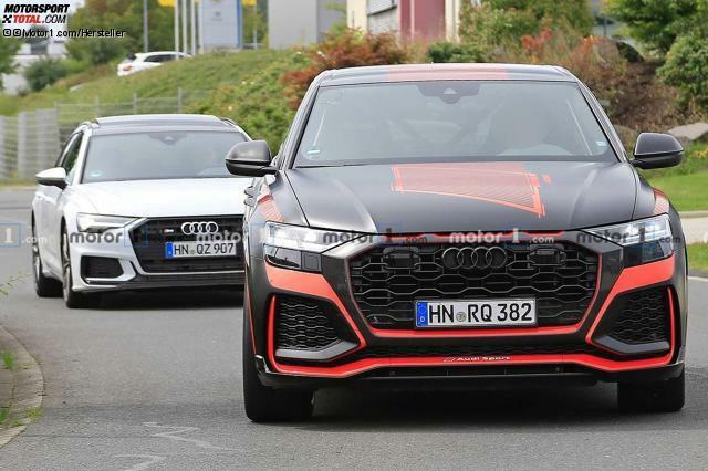 Audi Rs Q8 2019 Erstmals Komplett Ungetarnt Mit Wilden