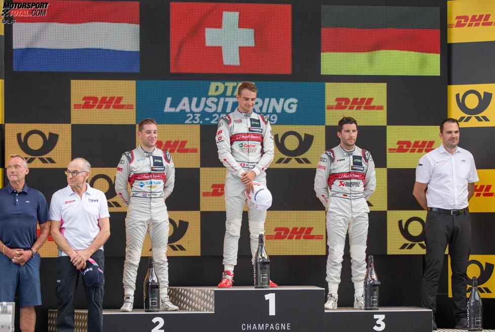 Robin Frijns (Abt-Audi) und Mike Rockenfeller (Phoenix-Audi)