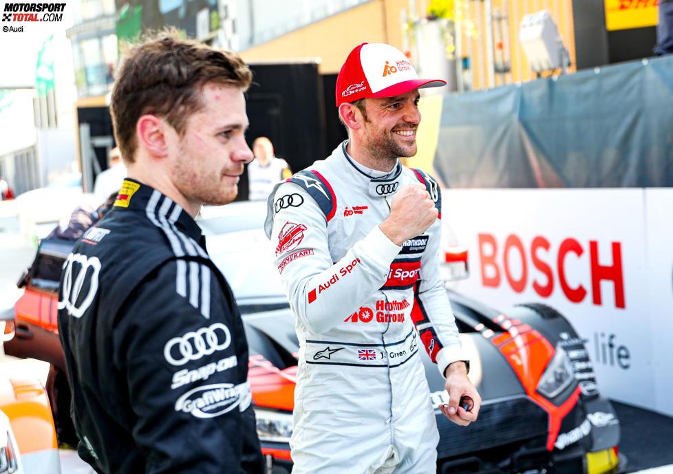 Jonathan Aberdein (WRT ) und Jamie Green (Rosberg-Audi)