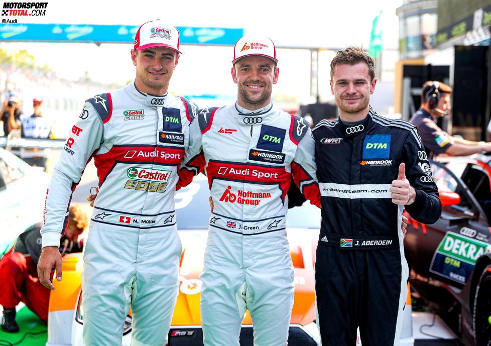 Jamie Green (Rosberg-Audi) und Jonathan Aberdein (WRT )