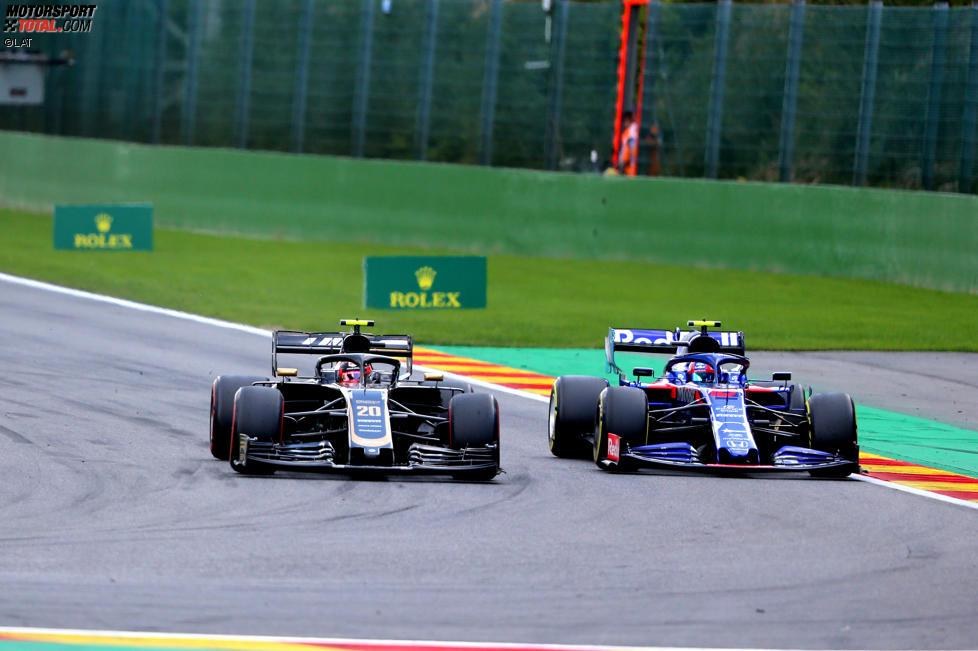 Kevin Magnussen (Haas) und Pierre Gasly (Toro Rosso)