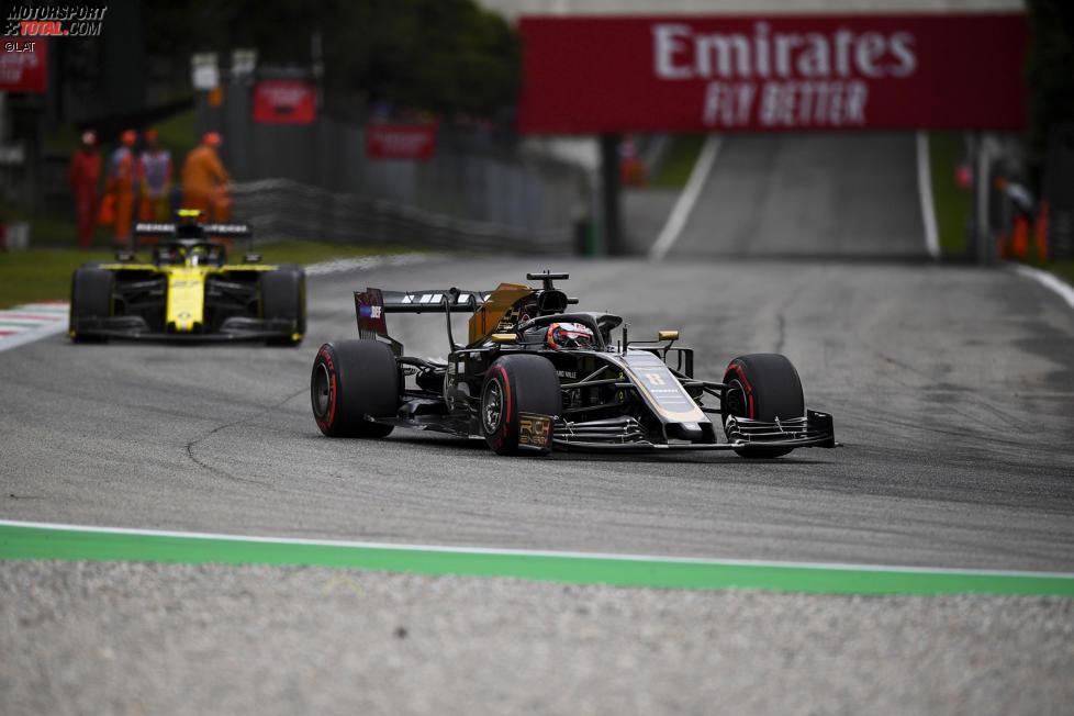Romain Grosjean (Haas) und Nico Hülkenberg (Renault)